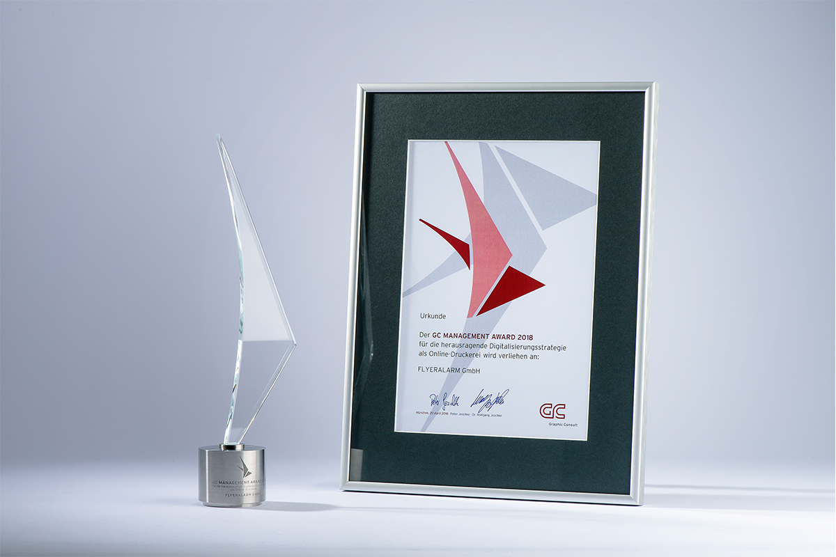 FLYERALARM erhält GC MANAGEMENT AWARD 2018